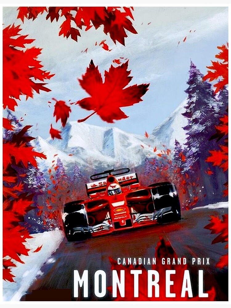 CANADIAN GRAND PRIX : Vintage Montreal Auto Racing Advertising Print by posterbobs