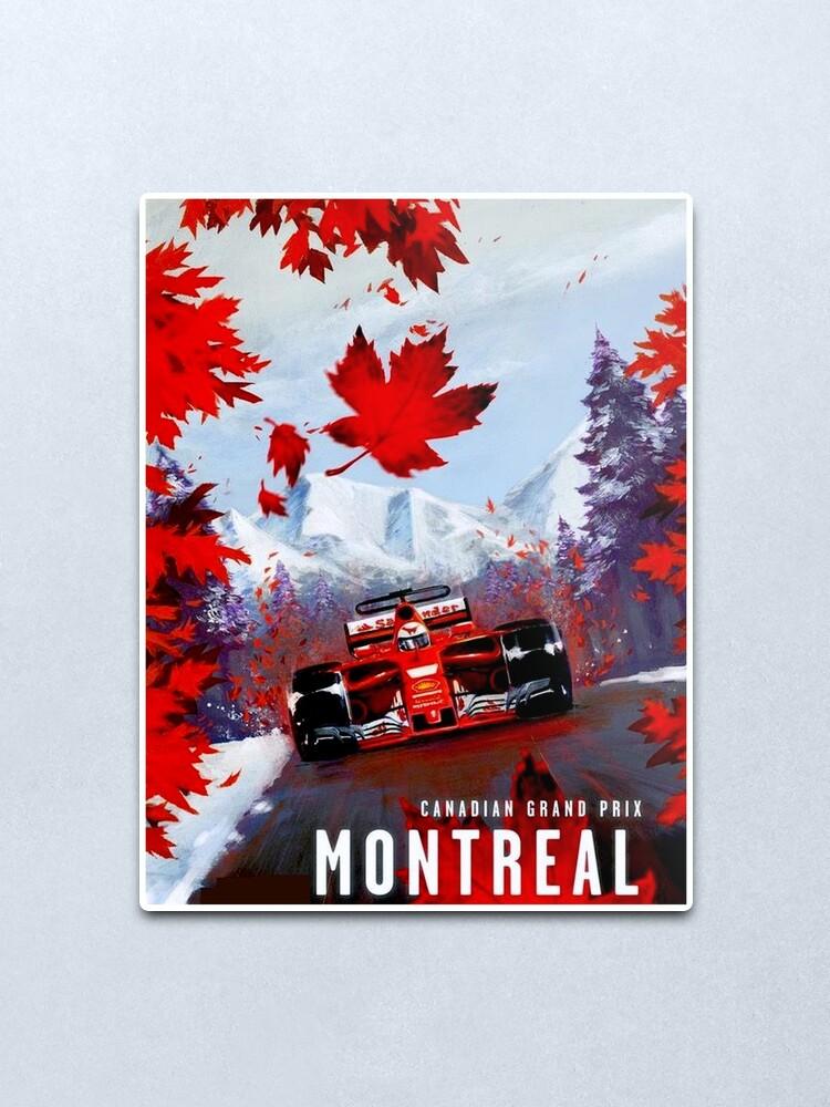 Alternate view of CANADIAN GRAND PRIX : Vintage Montreal Auto Racing Advertising Print Metal Print