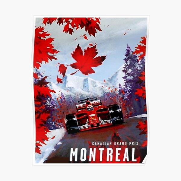 GRAND PRIX CANADIEN: Impression publicitaire sur les courses automobiles de Montréal Poster
