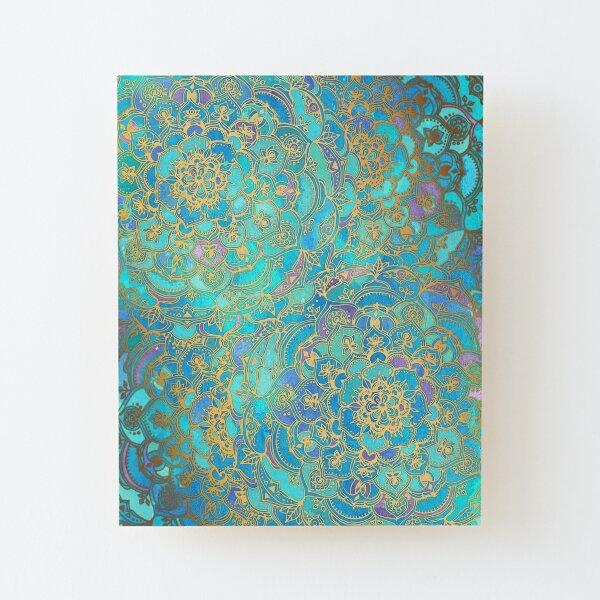 Sapphire & Jade Stained Glass Mandalas Wood Mounted Print