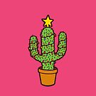 Cactus Christmas Tree in Pink by evannave