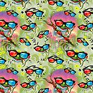 Tree Frog Chillin 3D Glasses by MudgeStudios