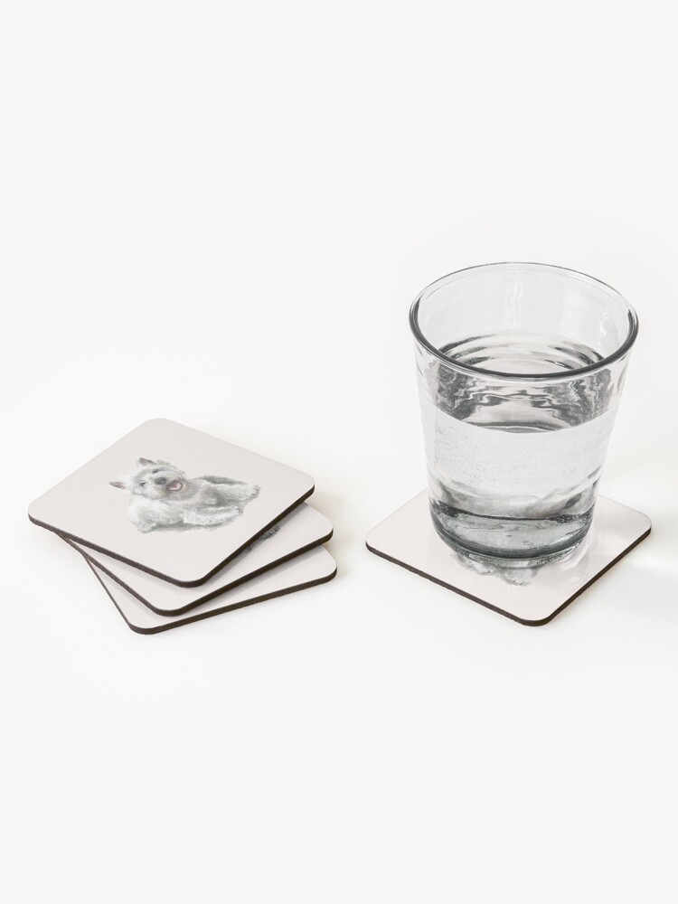 Alternate view of The West Highland Terrier Coasters (Set of 4)