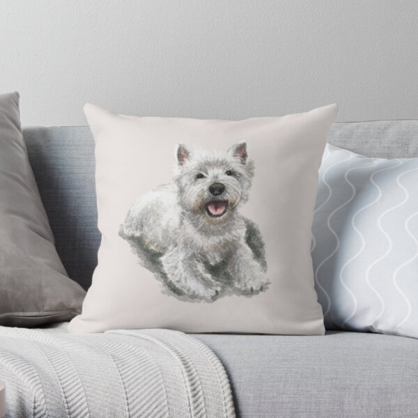 The West Highland Terrier Throw Pillow