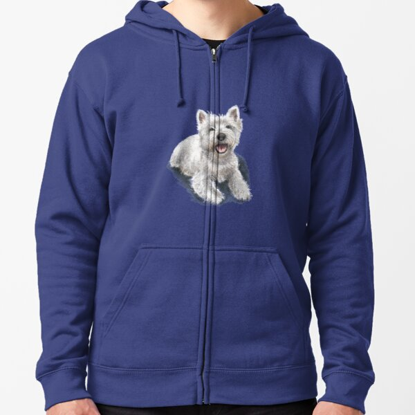The West Highland Terrier Zipped Hoodie