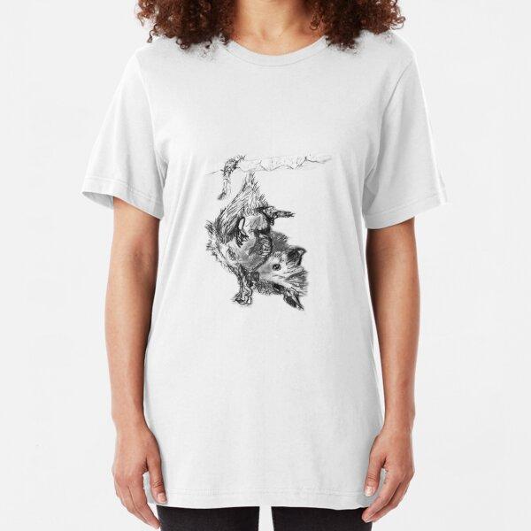 Sketchbook Opossum T Slim Fit T-Shirt