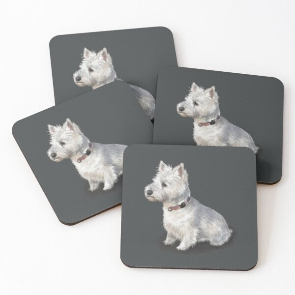 The West Highland Terrier Coasters (Set of 4)