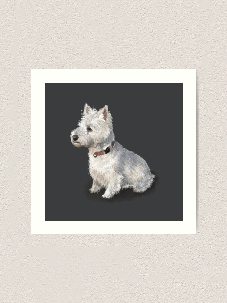 Alternate view of The West Highland Terrier Art Print