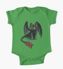 Toothless, Night Fury Inspired Dragon. One Piece - Short Sleeve