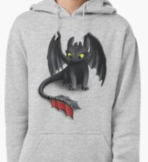 Toothless, Night Fury Inspired Dragon. Pullover Hoodie