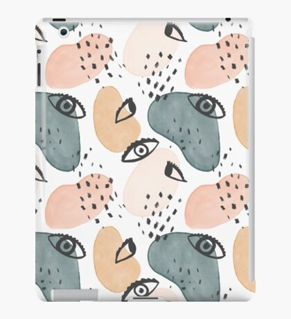 Painterly Eyes Pattern #redbubble   iPad Case/Skin