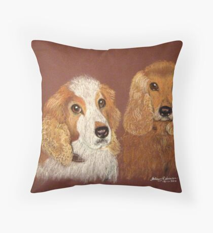 Cocker Spaniels, Nala and Brandy Throw Pillow