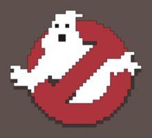 8 bit Ghostbusters logo.
