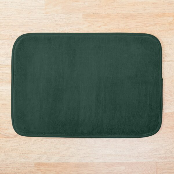 Forest Green Solid Color Bath Mat