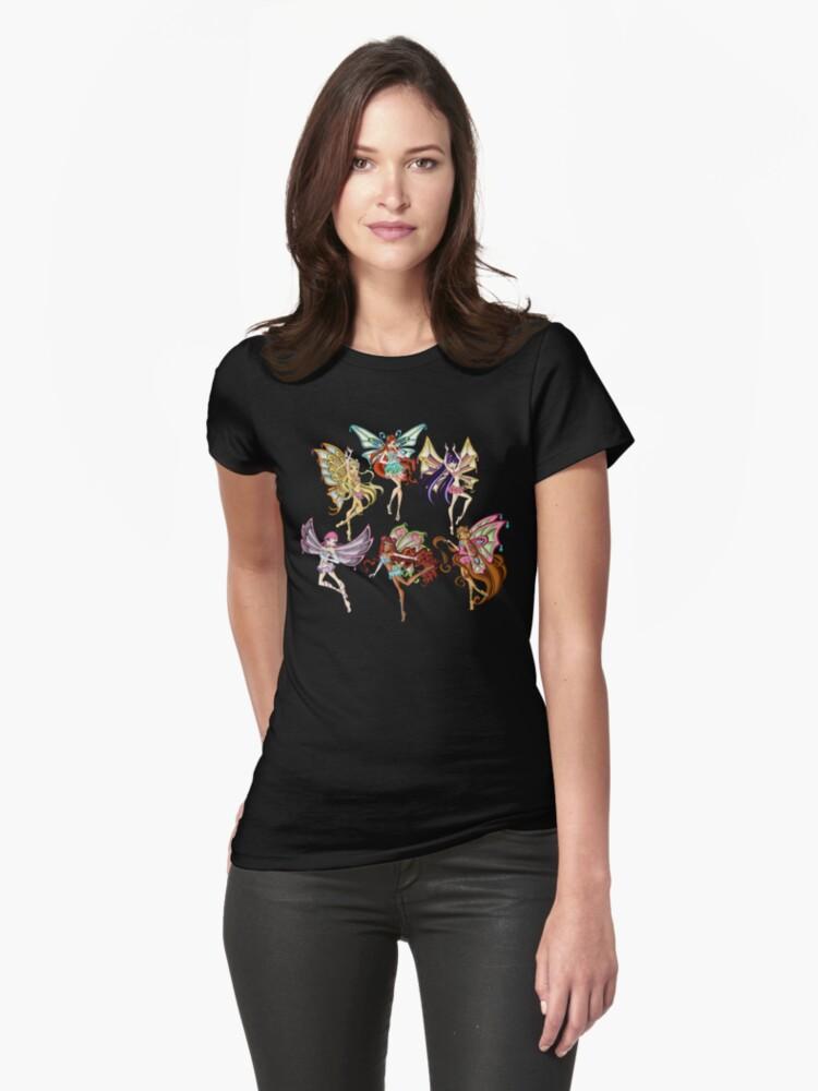 Winx Club Enchantix Womens T-Shirt Front