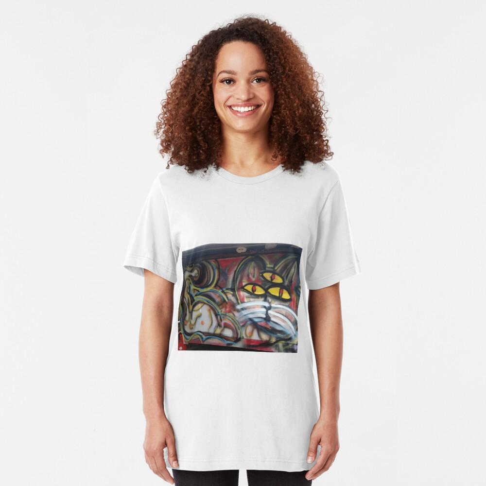 3rd eye kitty Slim Fit T-Shirt