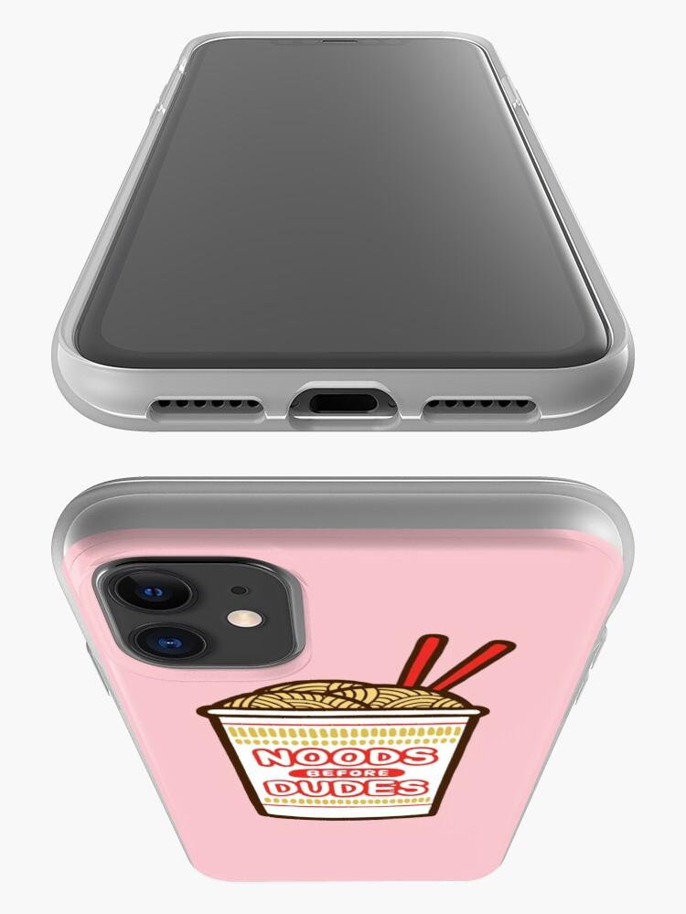 Alternate view of Noods Before Dudes in pink iPhone Case & Cover