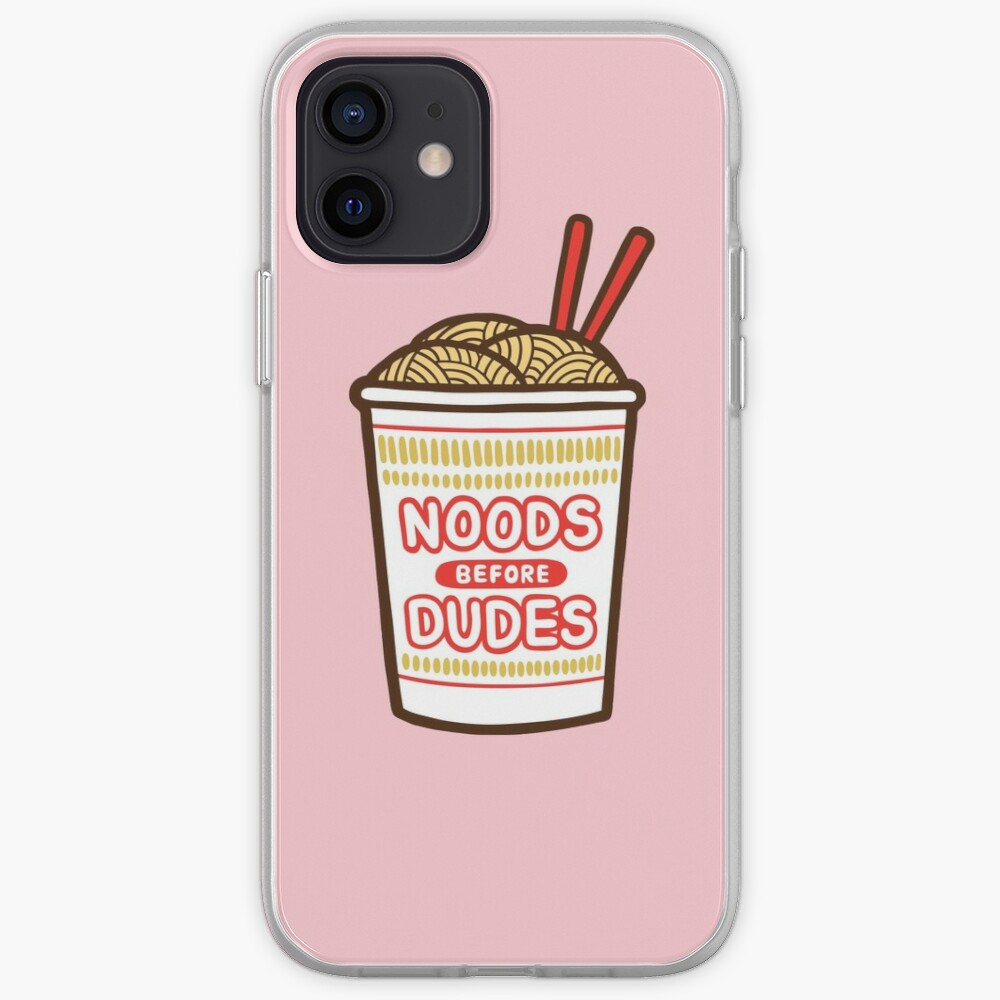Noods Before Dudes in pink iPhone Case & Cover