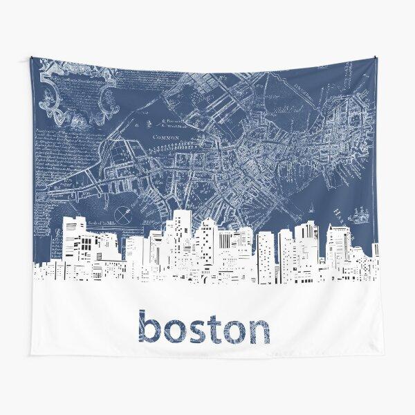 boston skyline Tapestry