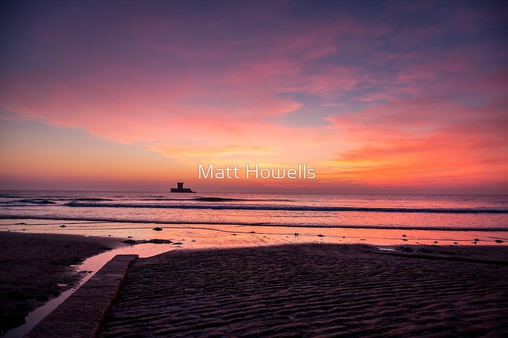 Jersey - Seymour tower at sunset by Matt Howells