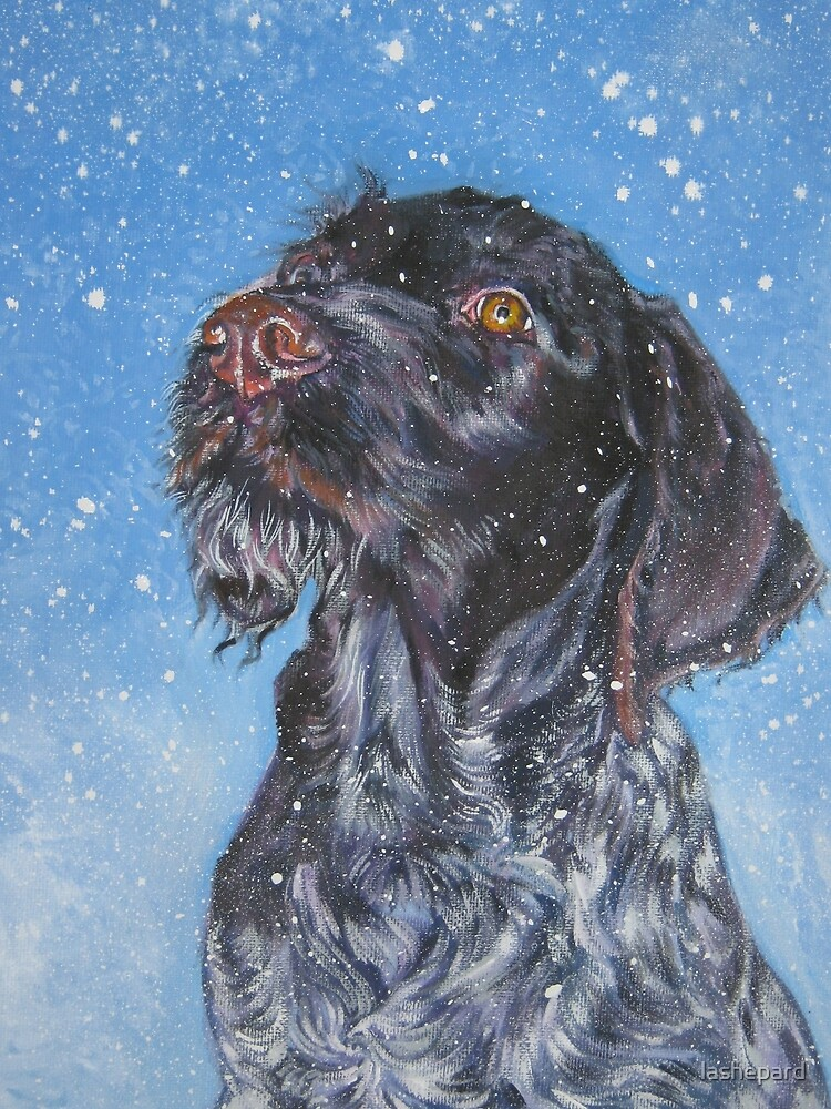German Wirehaired Pointer Fine Art Painting by lashepard