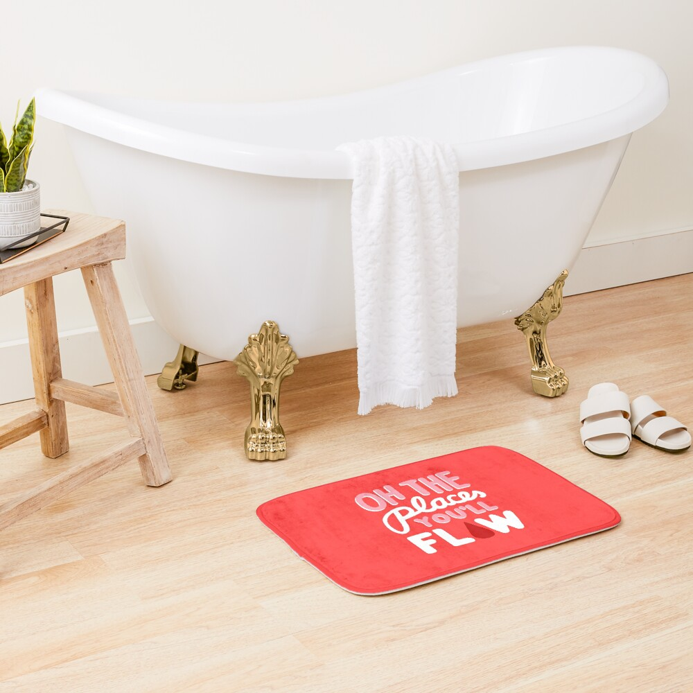 Oh the Places You'll Flow Bath Mat