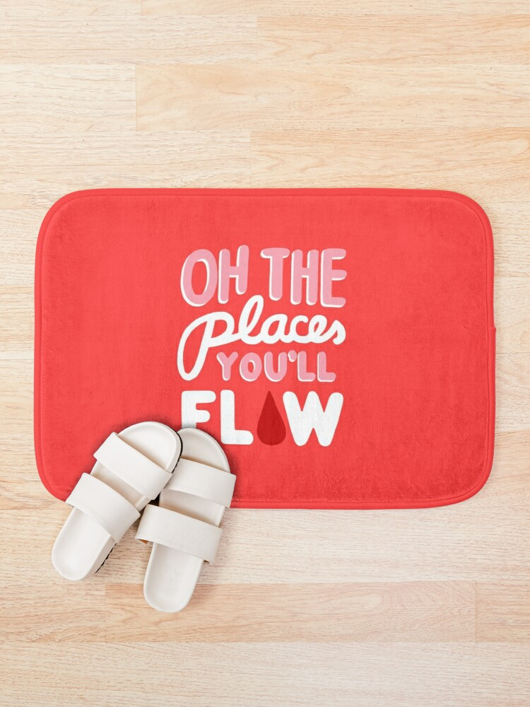 Alternate view of Oh the Places You'll Flow Bath Mat