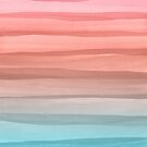 Colorful Watercolor Lines Pattern by blueskywhimsy
