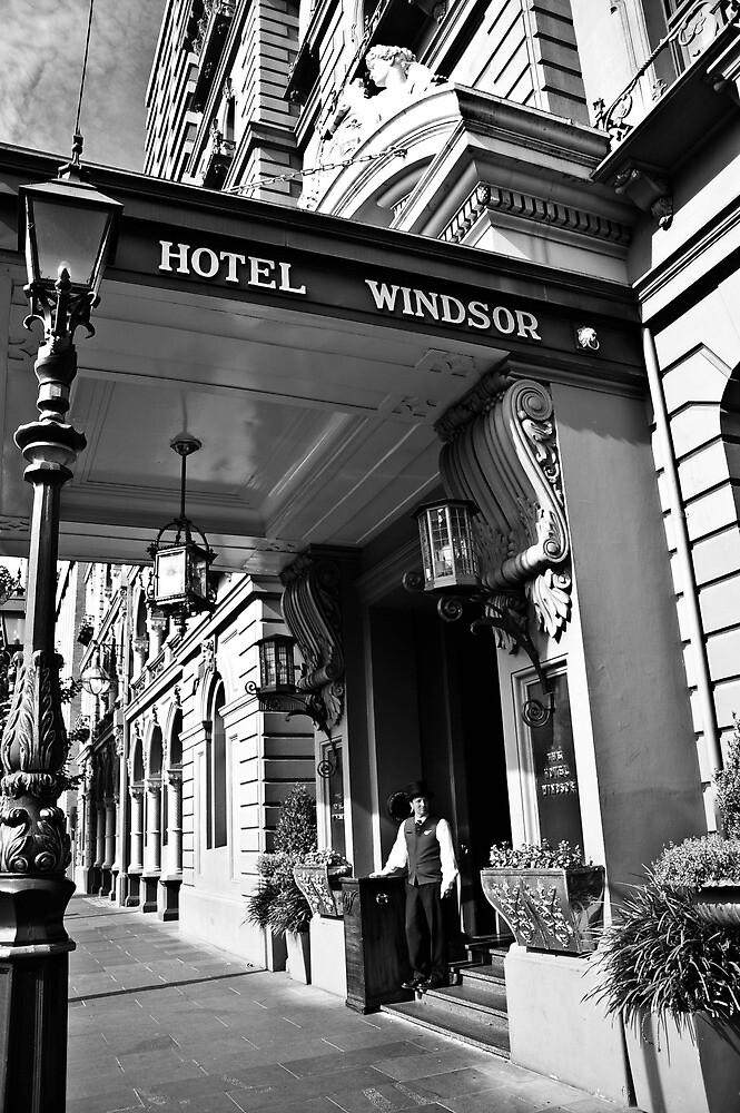 The Windsor Hotel Doorman - Melbourne by skyebelle