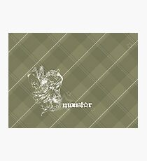 MonStar - Brown Plaid Photographic Print
