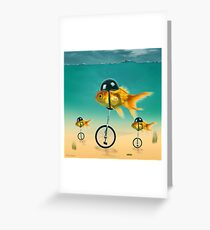 gold fish 3 Greeting Card