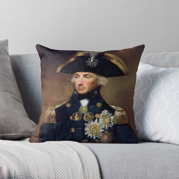 Admiral Horatio Nelson Throw Pillow