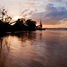 Brisbane River Industry Sunset by Jaxybelle