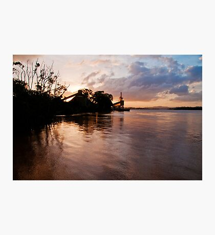 Brisbane River Industry Sunset Photographic Print