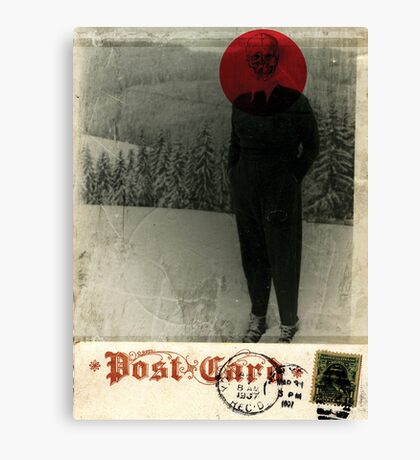 THE LITTLE DEATH WITH THE LITTLE RED CIRCLE IN IT´S HEAD Canvas Print