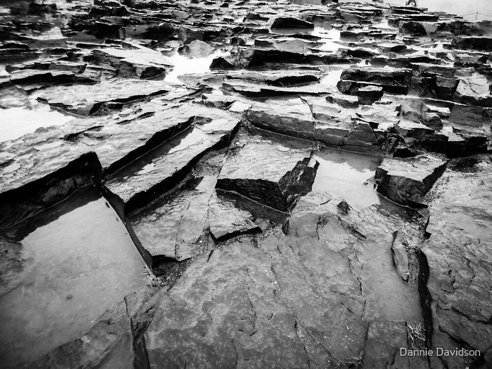 Geometrical rocks in Iceland by Dannie Davidson