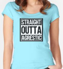 Straight Outta Agrestic Women's Fitted Scoop T-Shirt