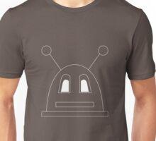 Robot (Basic) White, Non-Filled face for darker backgrounds Unisex T-Shirt
