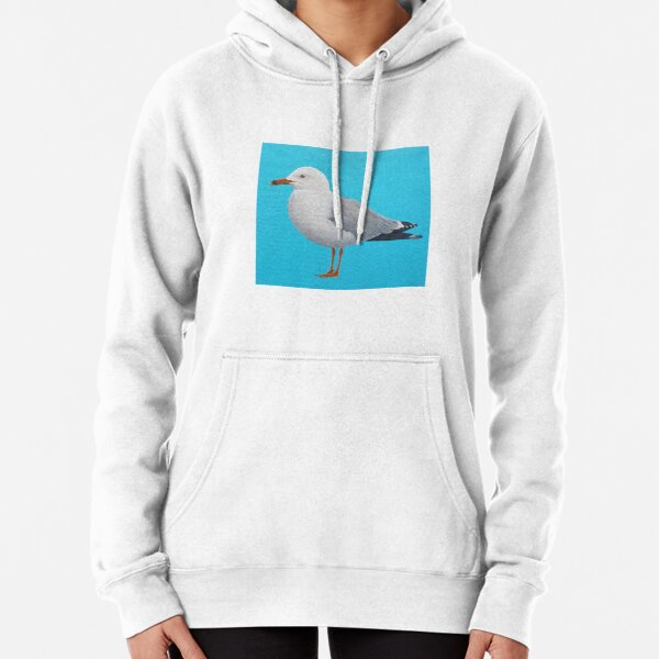 Seagull - oil on canvas Pullover Hoodie