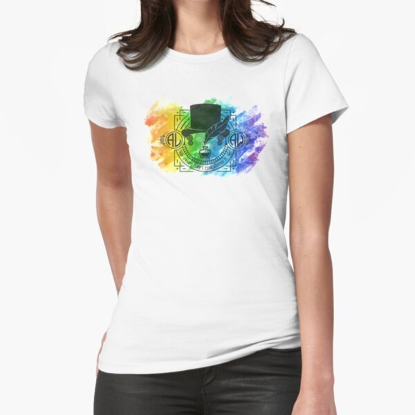 Rainbow Gentleman Jack Graphic Fitted T-Shirt