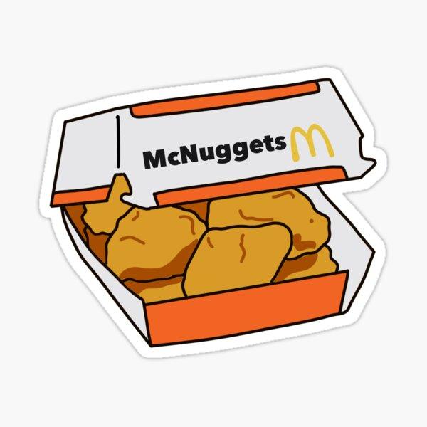 Chicken Nuggets Aesthetic Sticker Sticker