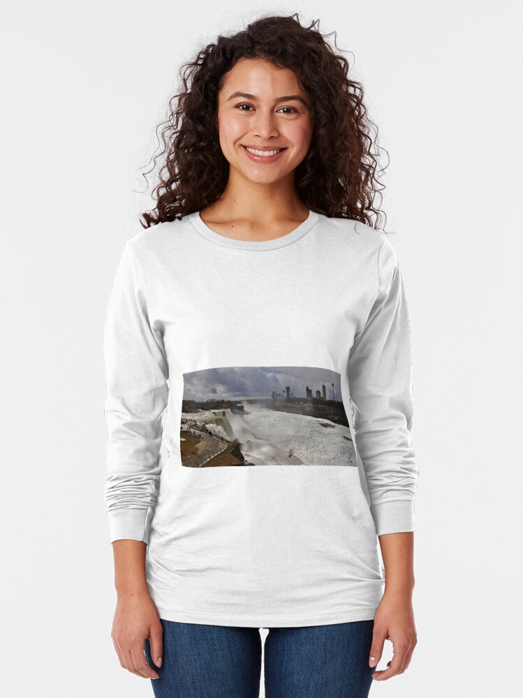 Alternate view of It's April 2018 and That's ICE in the Gorge Long Sleeve T-Shirt