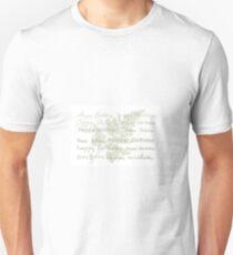 Happy Birthday Card Using Fern Frond Unisex T-Shirt