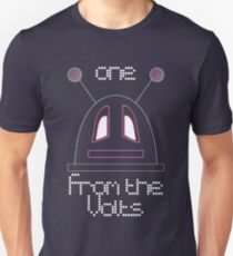 Robot (One from the Volts, Sad eyes) White, Non-Filled face for darker backgrounds T-Shirt