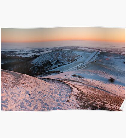 Sunrise on Christmas Day (Hereford Beacon - Malvern) viewed 178 times Poster