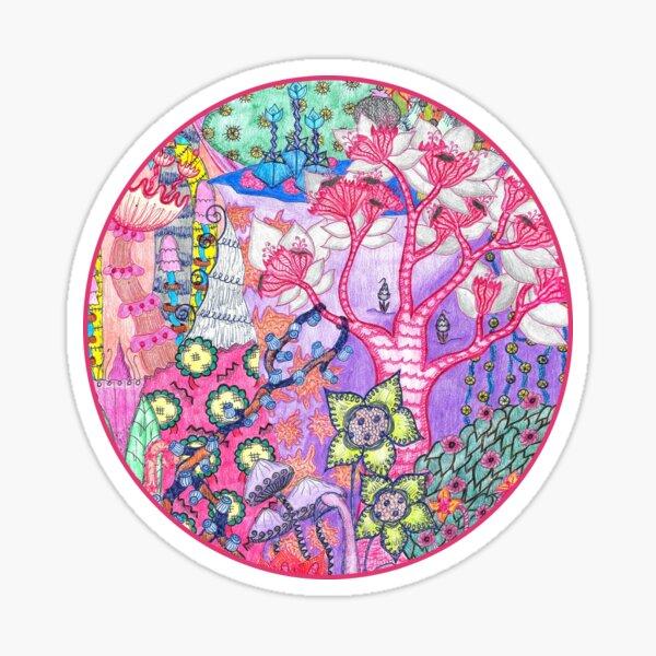 Trippy Forest Full Version Sticker