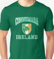 Connemara, Ireland with Shamrock Unisex T-Shirt