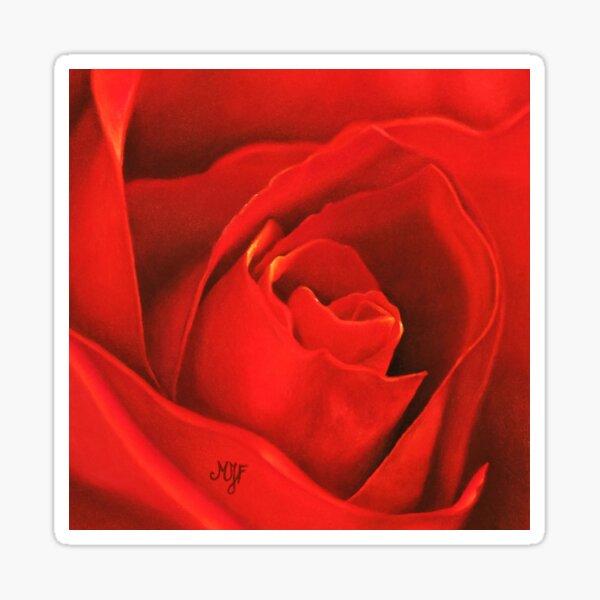 Rose rouge Sticker