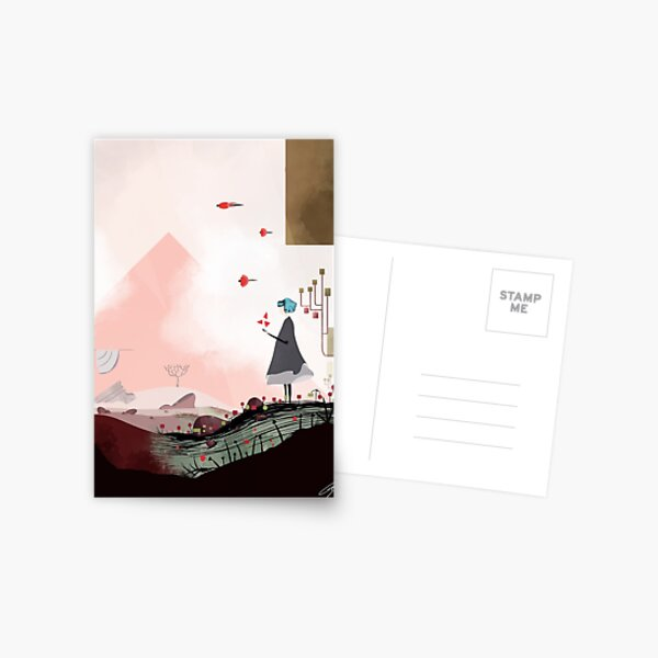 Gris poster Carte postale