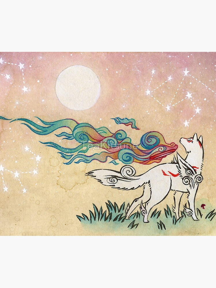 Amaterasu Wolf by TeaKitsune